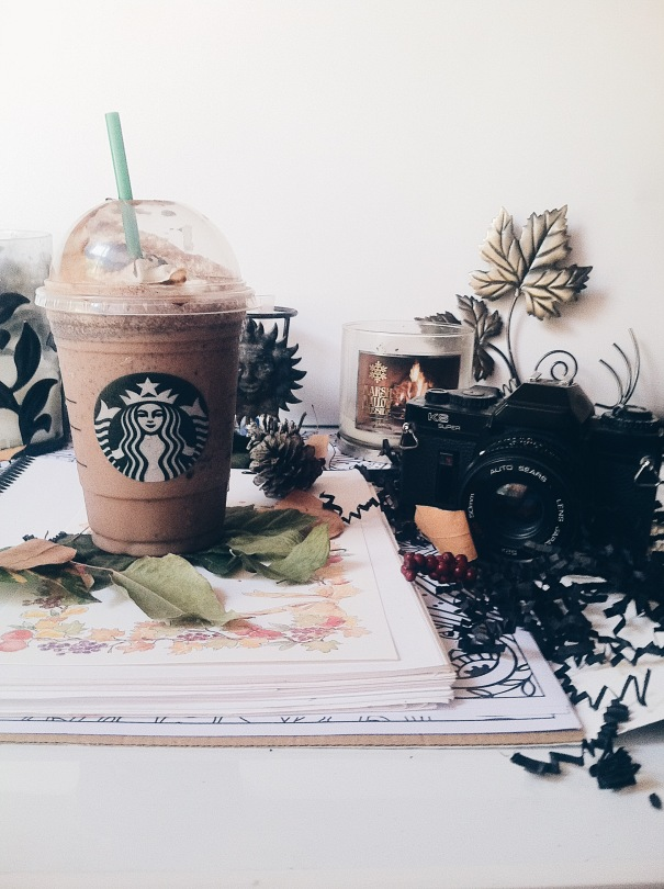 Starbucks aesthetic, double chocolate chip frappuccino