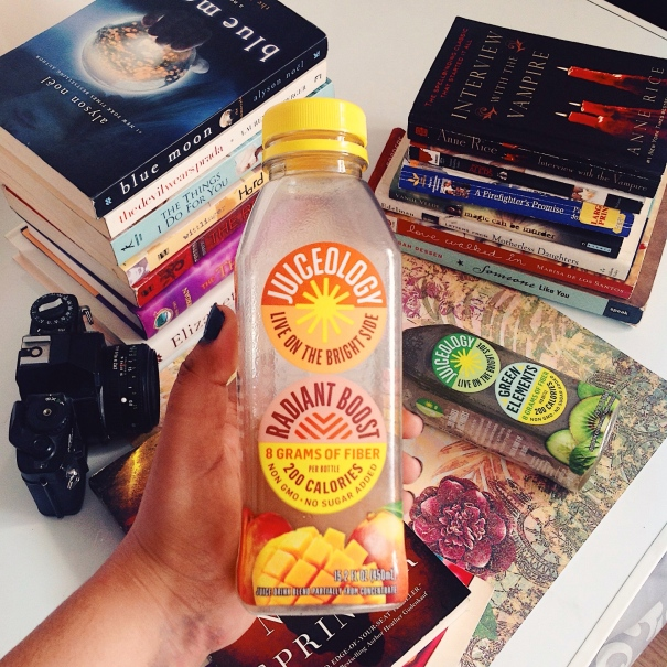 Book Haul, Juiceology Drinks, Radiant Boost, Sun Chasers & Juice Makers